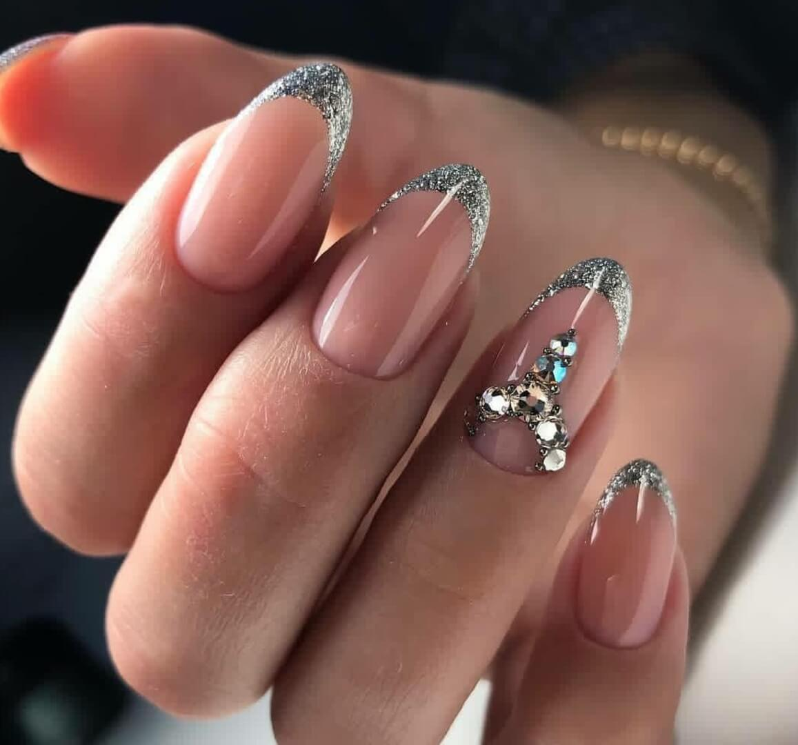 френч на ногтях фото серебро косогоре, земельный участок