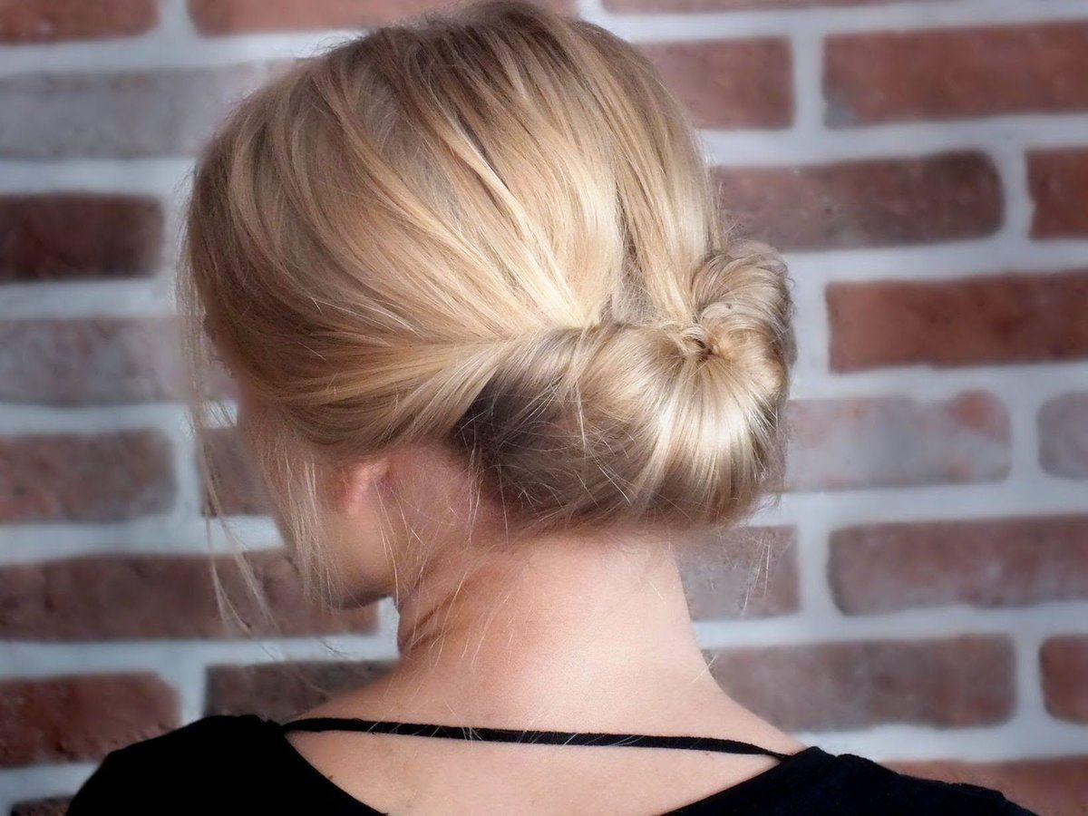 Прически на средние волосы забранные