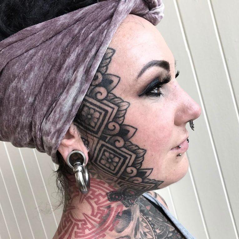 Картинки татуаж на все лицо