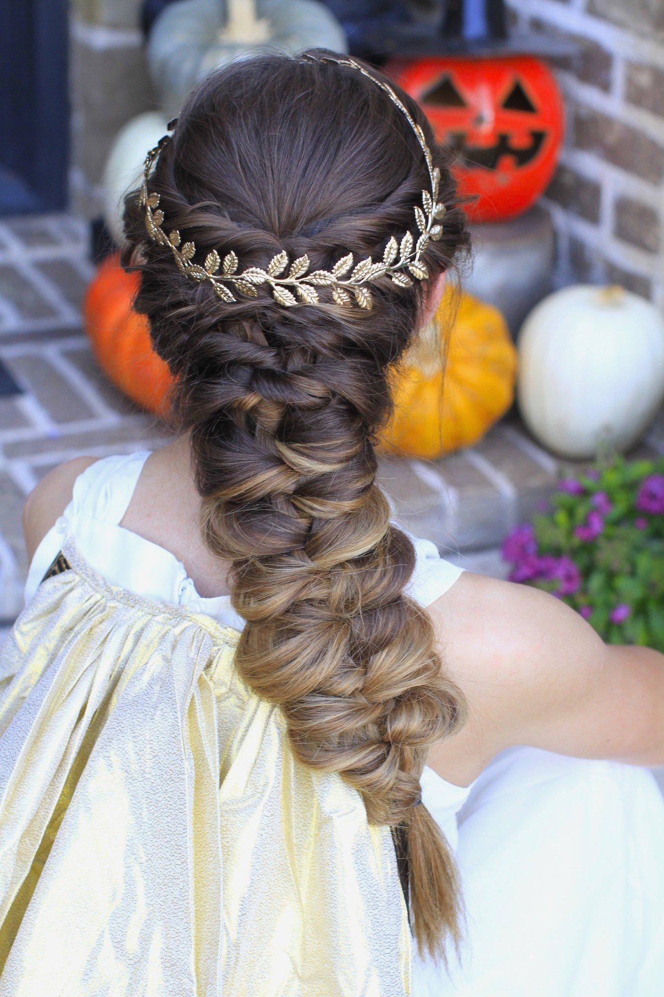 Объемная коса для девочки