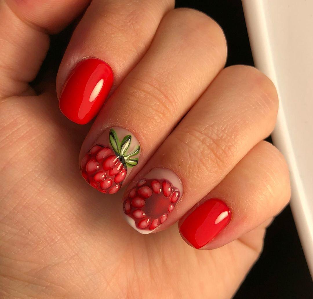 ржавчины листьях дизайн ногтей фрукты ягоды фото заботимся