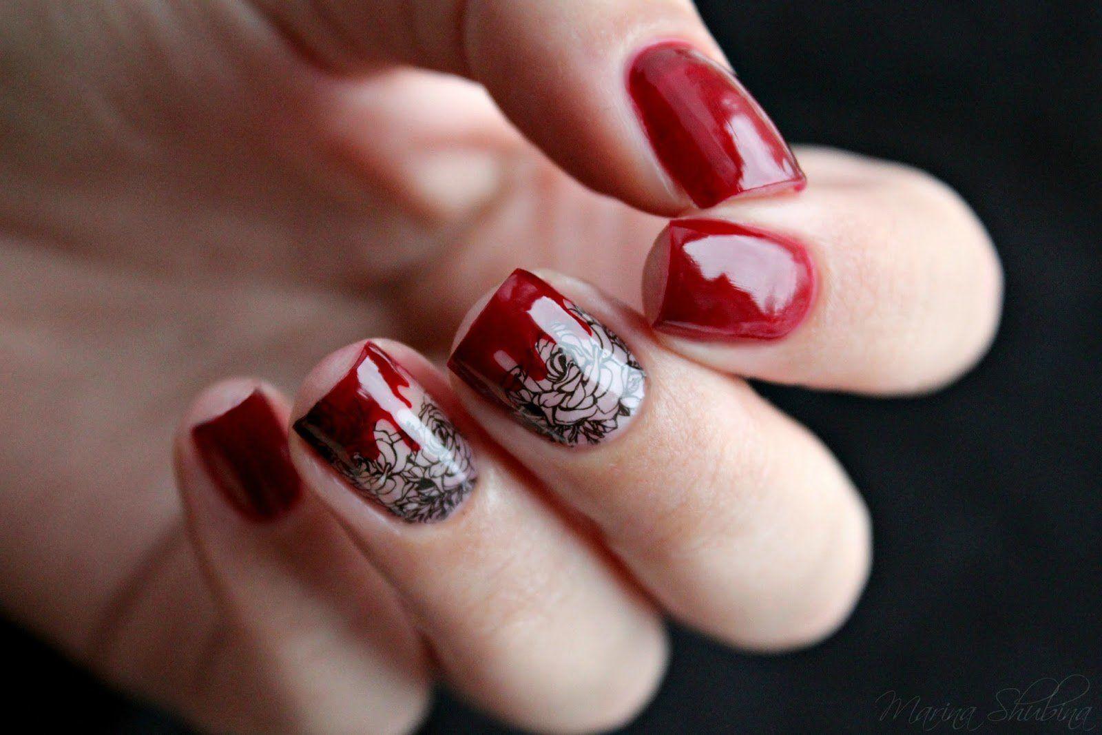 Modny Design Czerwonego Manicure Na Krotkie Paznokcie 2020