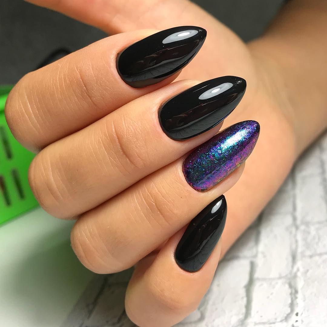 Czarny Manicure Na Dlugie Paznokcie 2020 Pomysly I Zdjecia