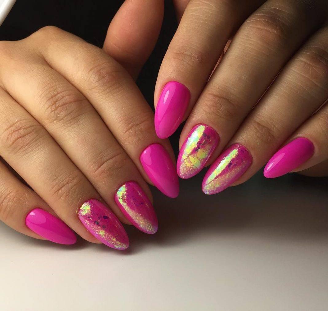 Ногти фото яркие миндалевидные