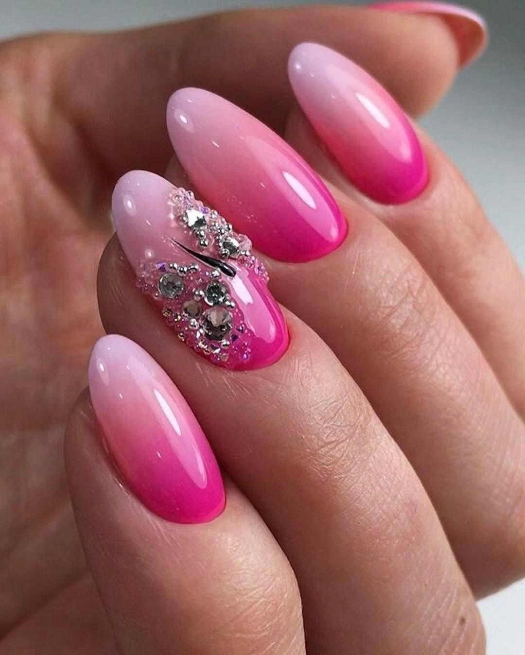 Маникюр в розовых тонах на короткие ногти (49 фото)
